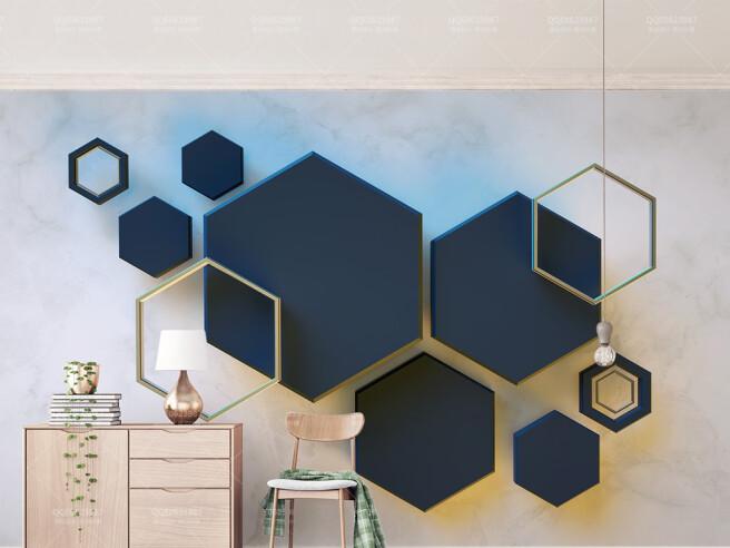 Фотообои Темные шестиугольники
