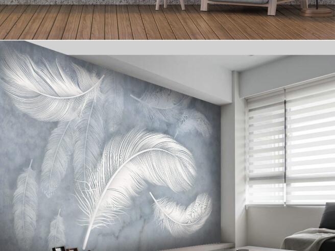 Фотообои Серые перья