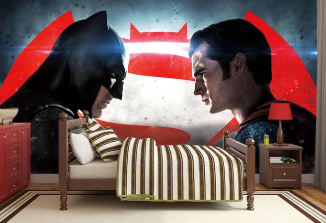 Фотообои супермен и бэтмен
