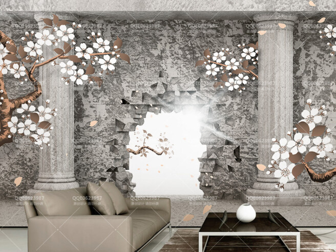 Фотообои Дыра в греческой стене