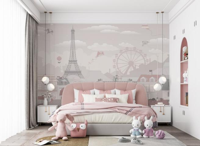Фотообои париж в детскую