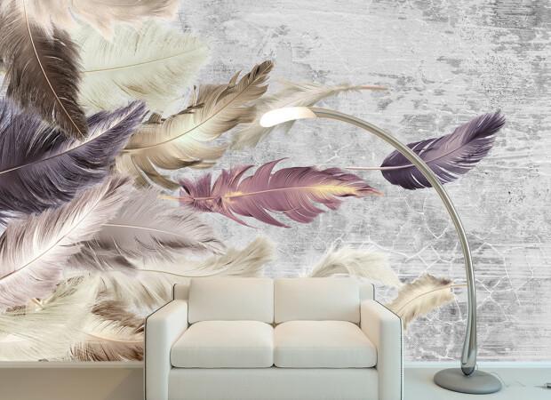 Перья фламинго