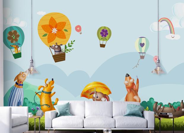 Собаки и воздушные шары