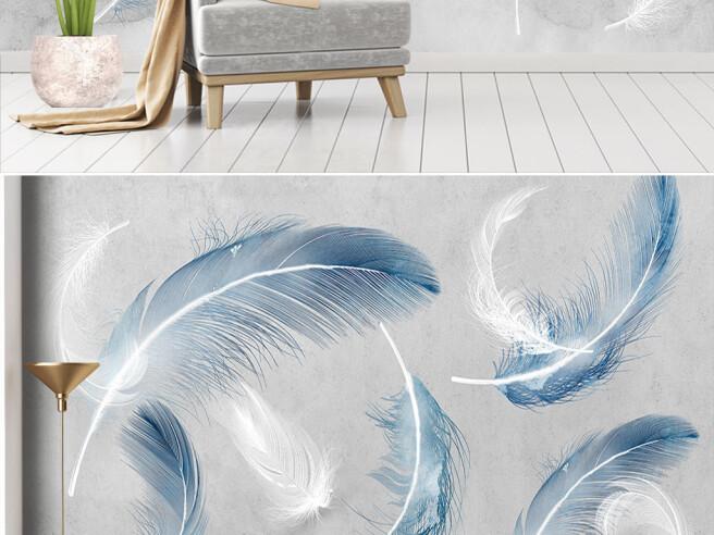 Голубые перья