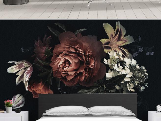 Фотообои Темные цветы