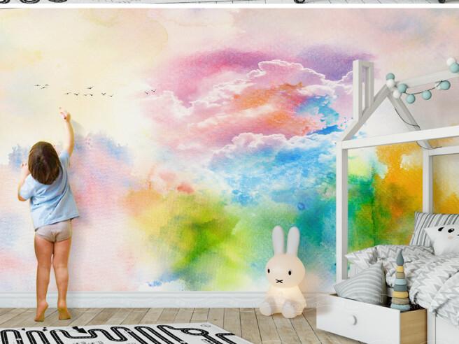 Фотообои Цветные облака