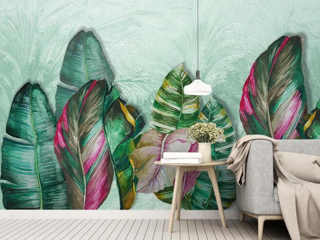 Фотообои Красочные листья пальм