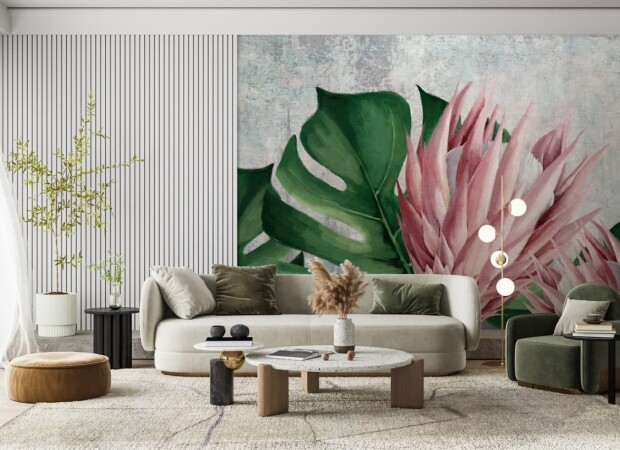 тропический «цветок» на бетонном фоне