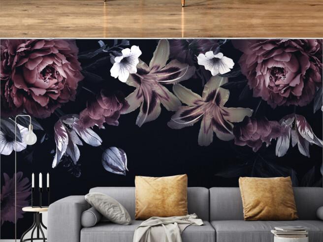 Фотообои Пионы и лилии