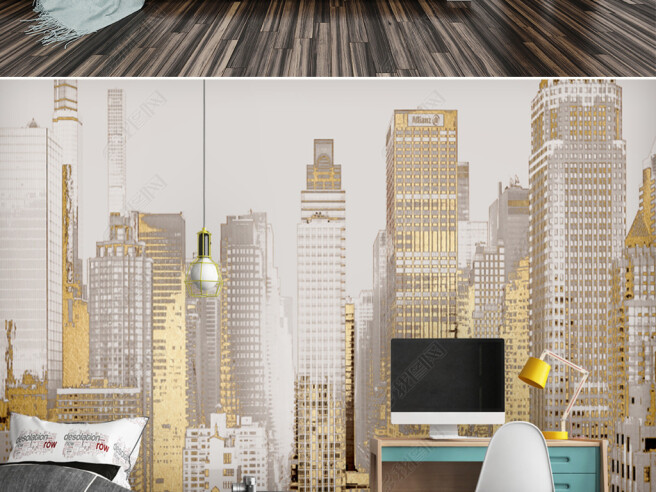 Фотообои Золотые башни города