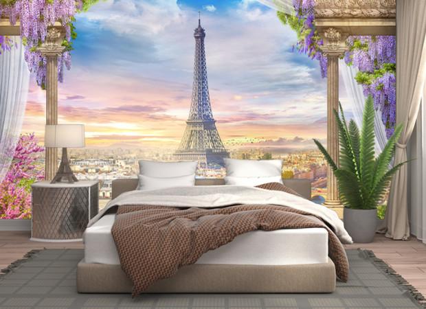 париж из балкона