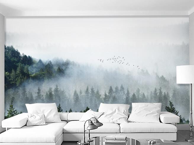 Фотообои Елки в тумане
