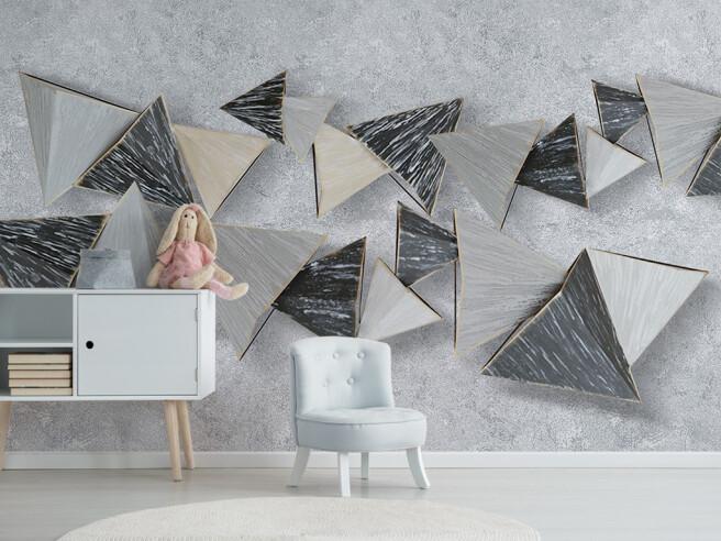 Фотообои Объемные треугольники