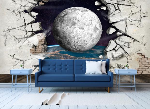планета сквозь стену
