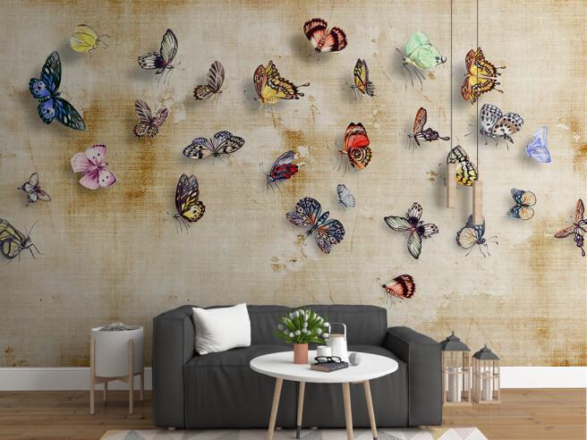 Фотообои Стая бабочек