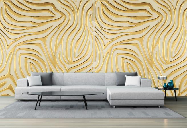 Фотообои золотая фреска