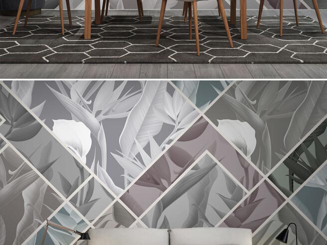 Мозаика из листьев