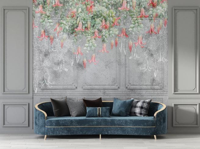 Фотообои гипсовые панели с цветами