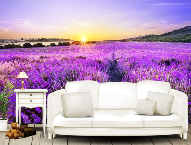Фотообои фиолетовое цветение