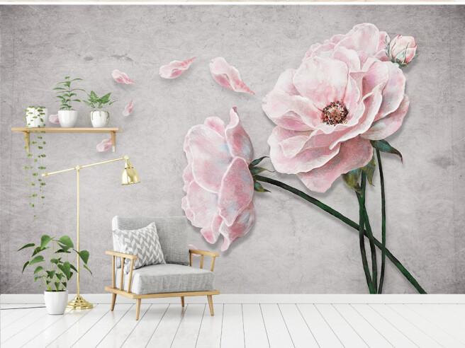 Фотообои Лепестки алых роз