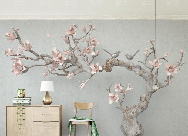 Розовый цветок магнолии