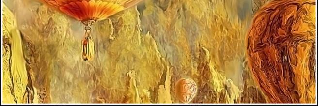 Фотообои Воздушный шар на неизвестной планете