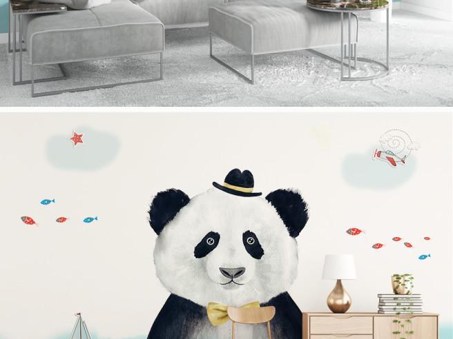 Большая панда в шляпе