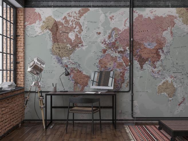 Фотообои геологическая карта
