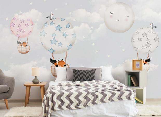Лисы на воздушных шарах