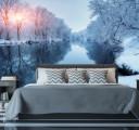 Фотообои Зимняя река в лесу