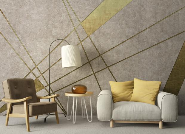 Золотые линии на стене