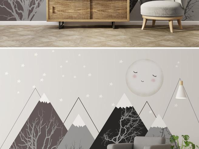 Фотообои Горы и спящая луна