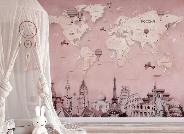 Розовая карта «Вокруг света»
