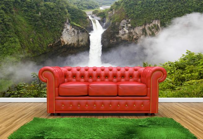 Фотообои туманный водопад