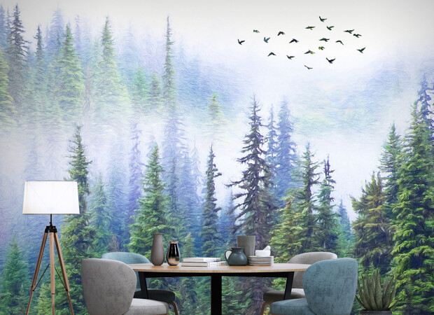 Лес в красках