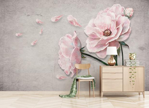 Лепестки алых роз