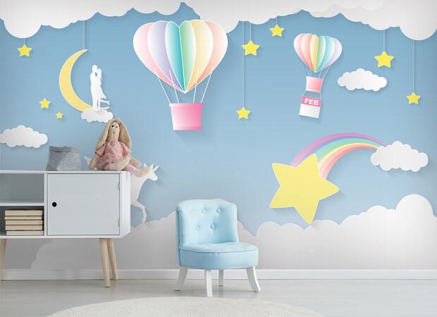 Звезда с неба и воздушные шары
