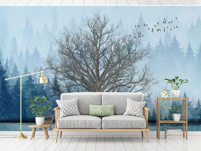 Фотообои Зимний дуб