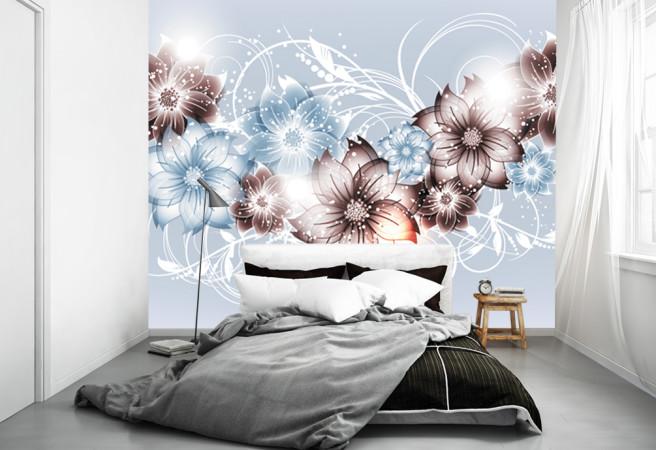 цветы на серебре