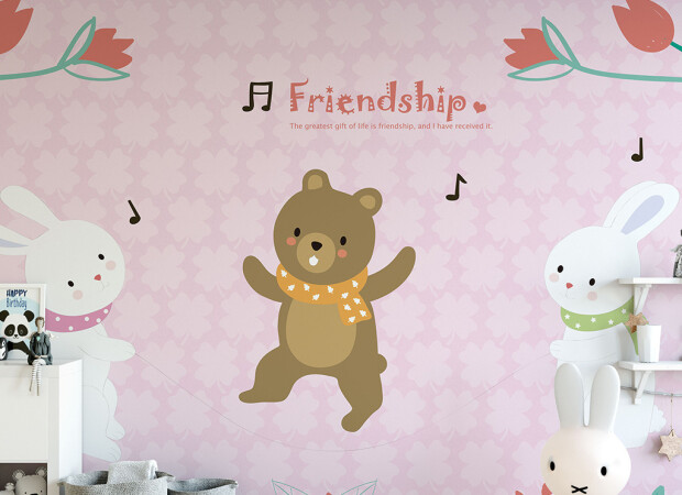 Дружба медведя и зайцев