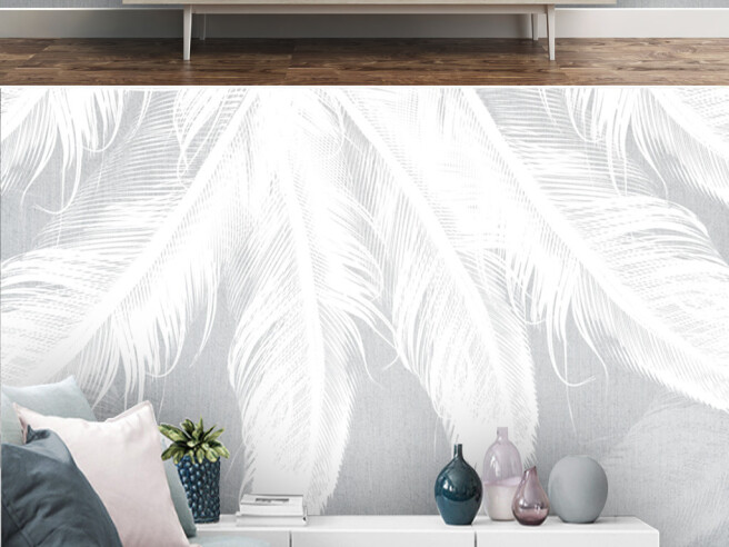 Фотообои Четыри белых пера