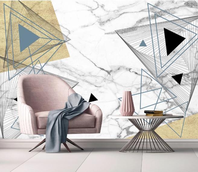 треугольники на мраморе