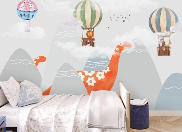 динозавр и воздушные шары