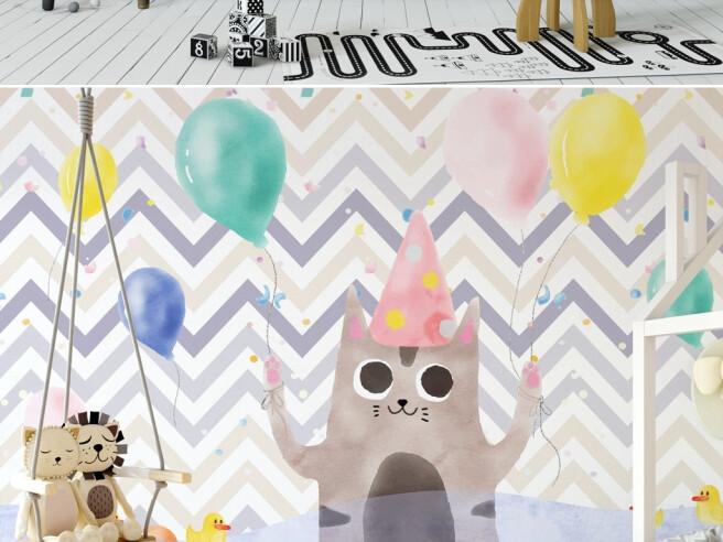 Фотообои Кот на празднике