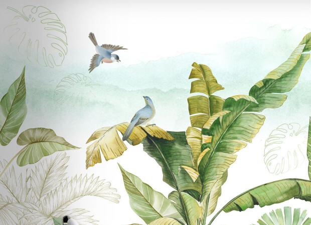 Птицы на пальме