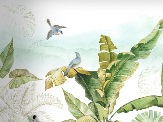 Фотообои Птицы на пальме