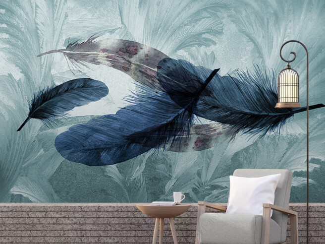 Фотообои Перья ворона