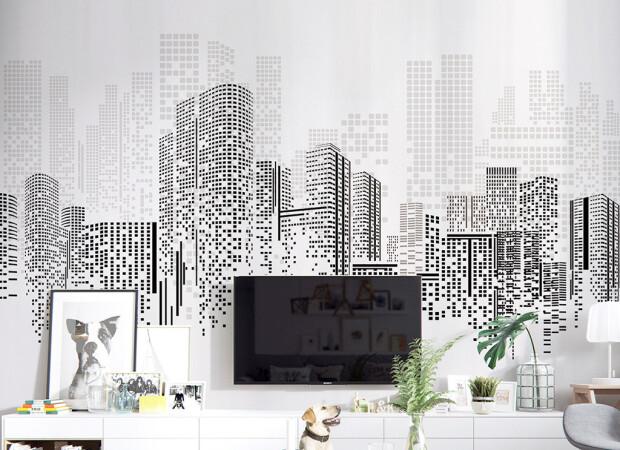 Пиксельный город