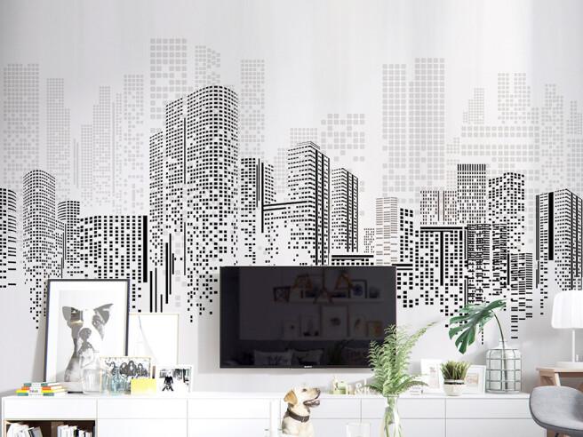 Фотообои Пиксельный город