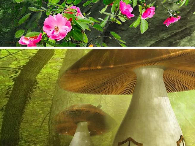 Длмик в грибах